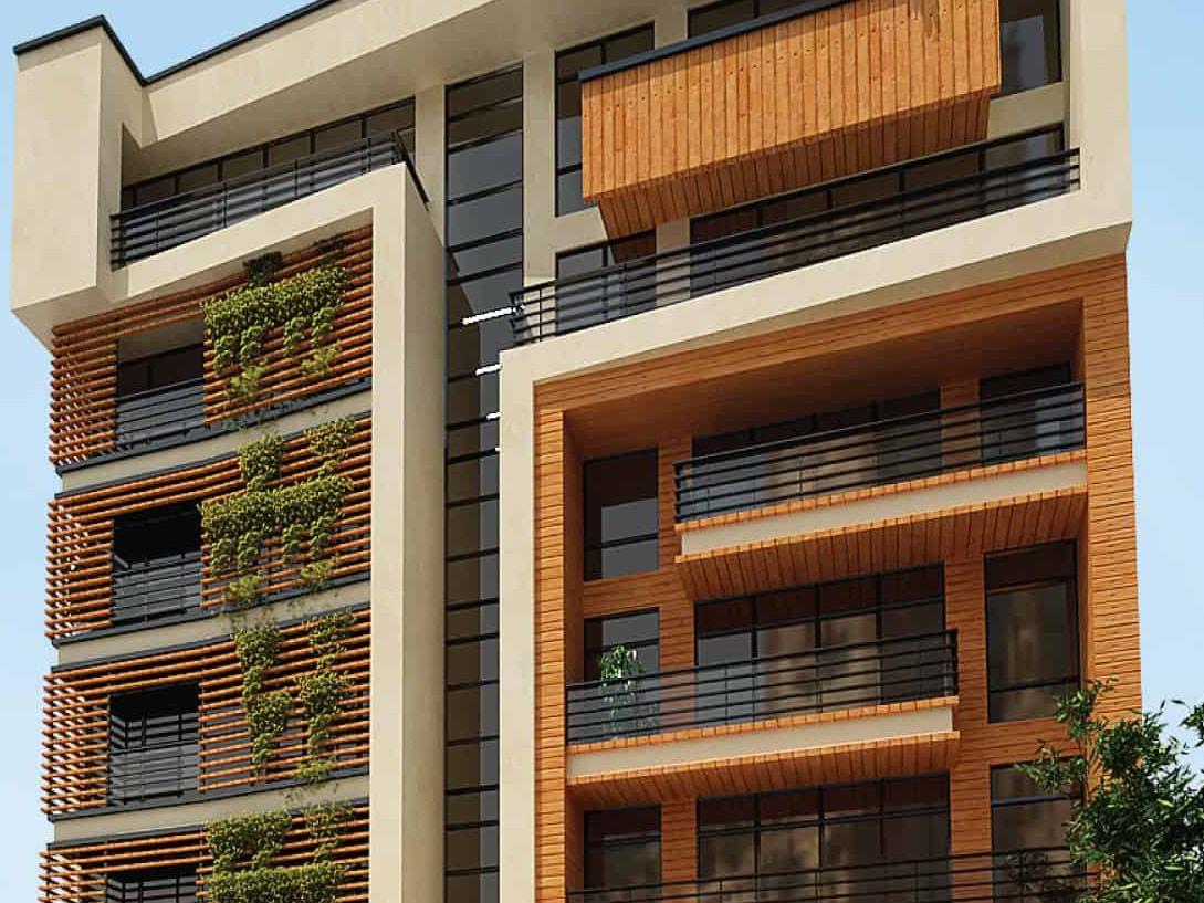 پروژه طراحی نمای مدرن مجتمع مسکونی آناهیتا