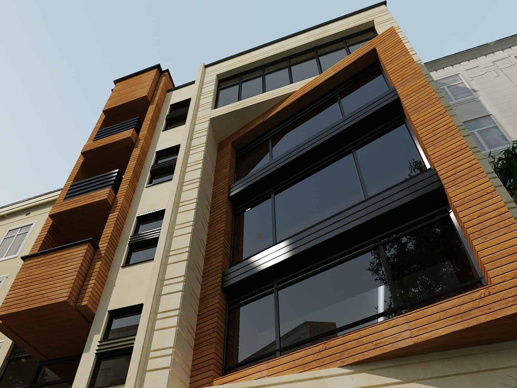 پروژه معماری و طراحی مدرن مجتمع مسکونی باران