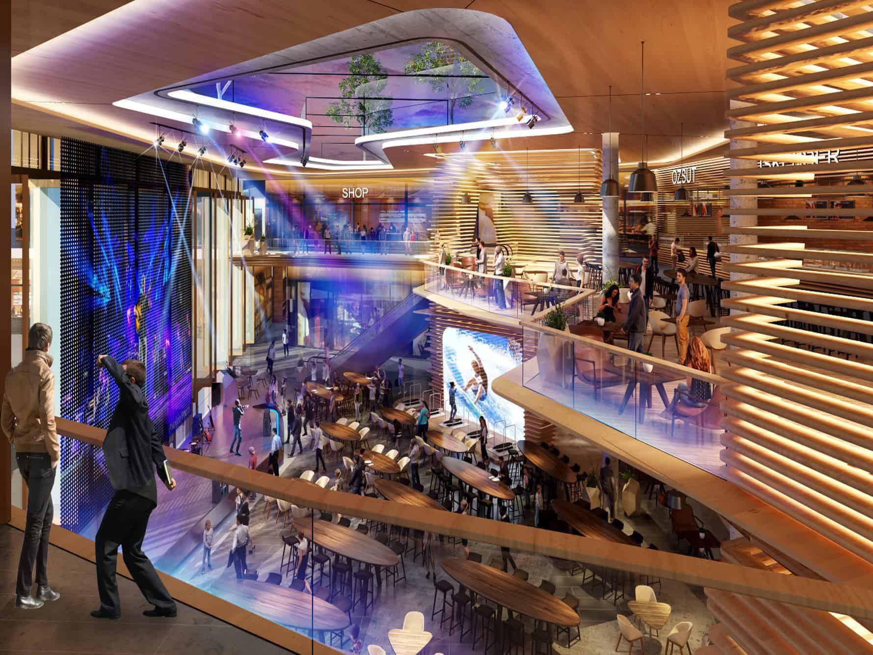 معماری مدرن مجتمع تجاری گوهران
