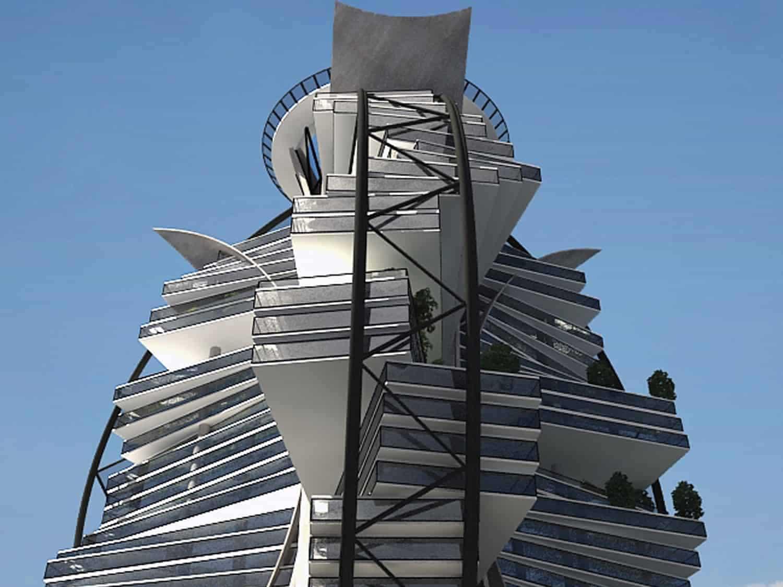 طراحی نما و معماری مدرن مجتمع تفریحی اقامتی نمک آبرود