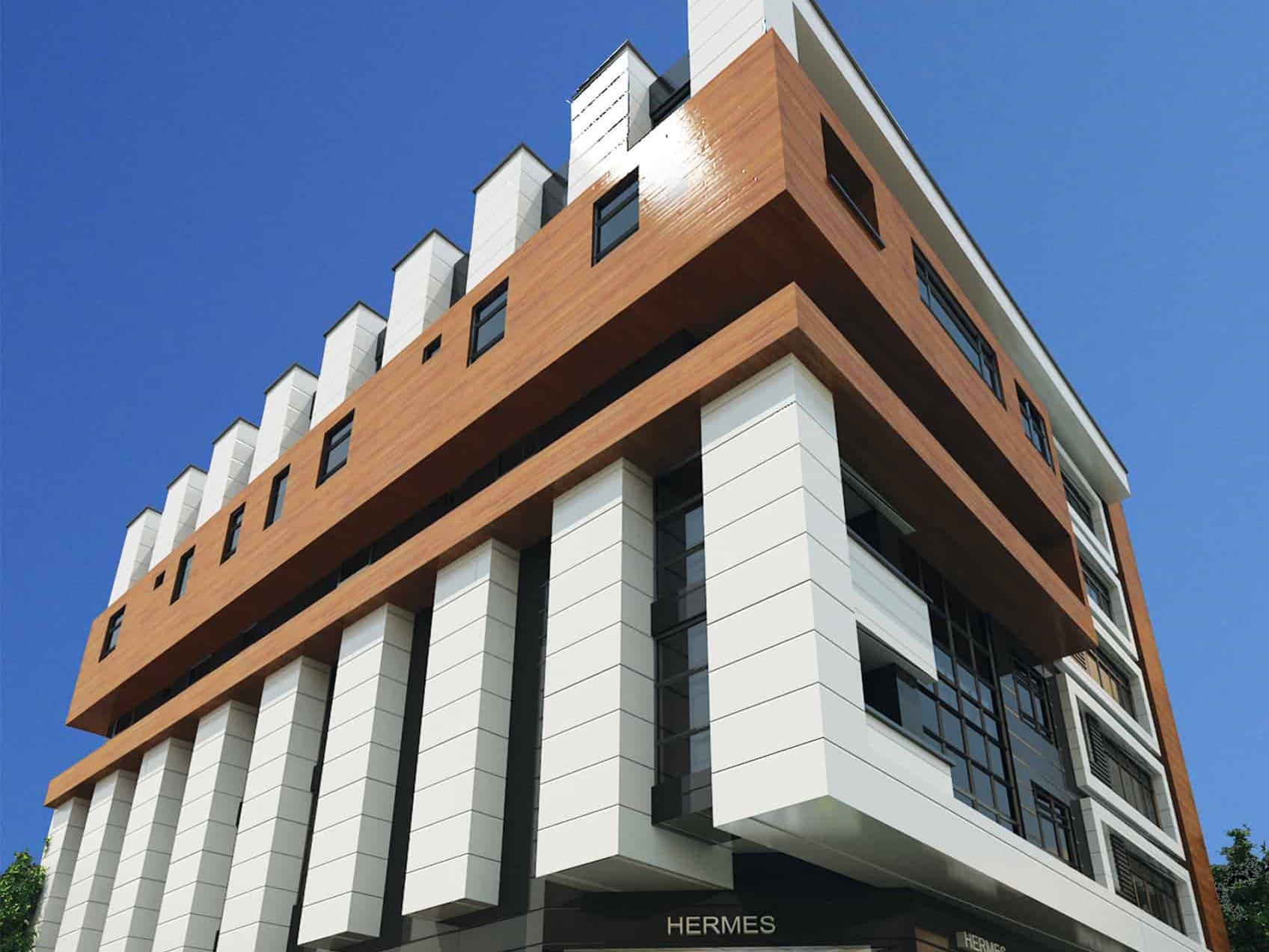طراحی و معماری مدرن مجتمع تجاری اداری سپهر