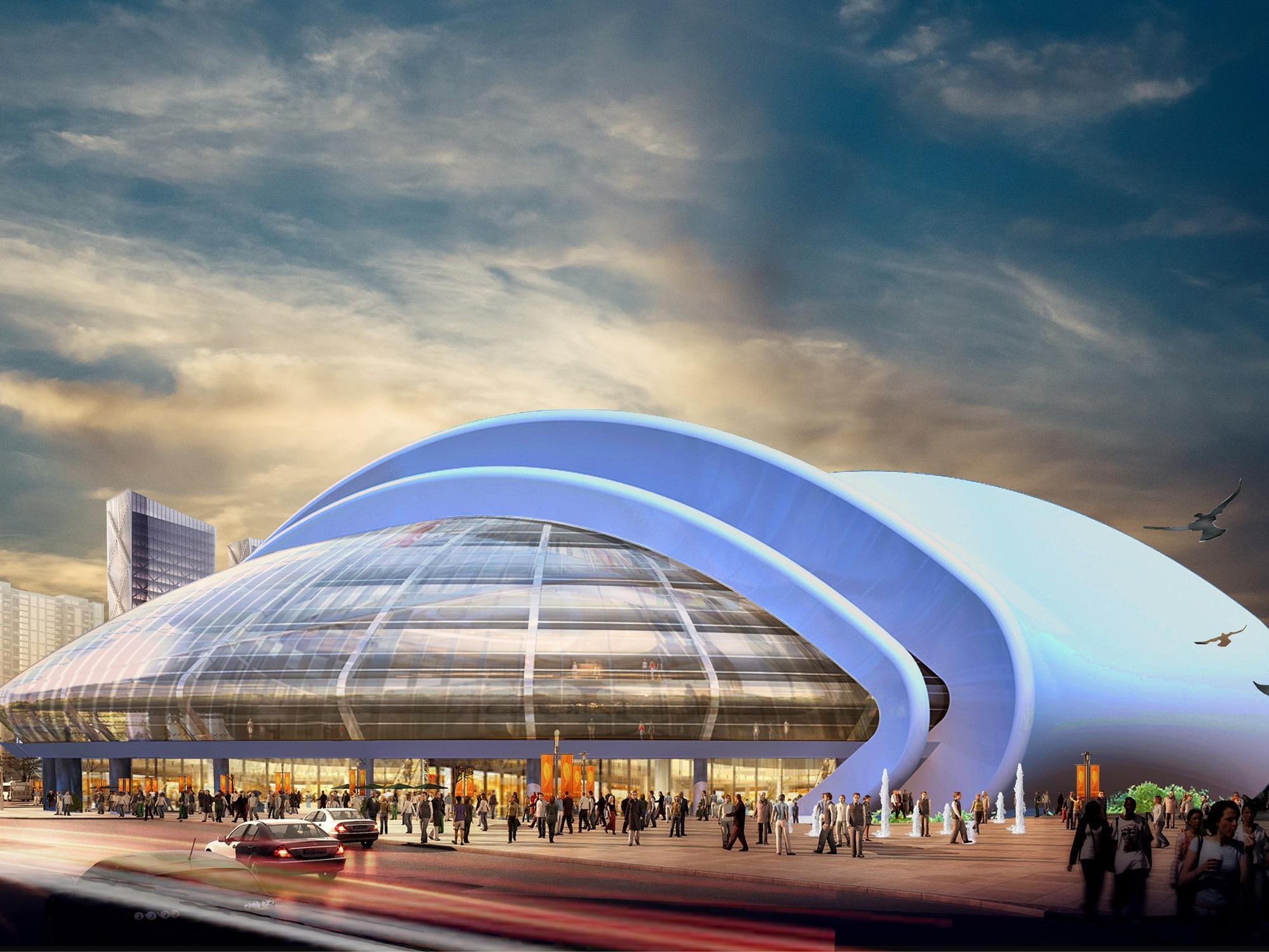 طراحی و معماری مدرن مجتمع تجاری لارناکا